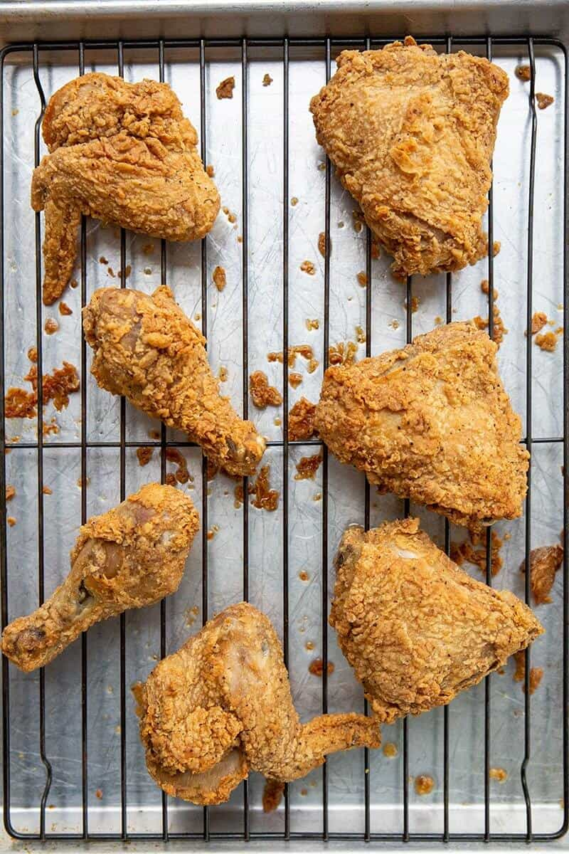 how to reheat fried chicken so it s