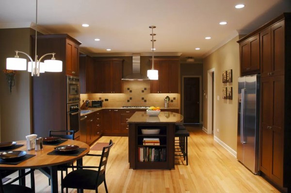 warm kitchen design Custom Home Design & Remodeling Services in Lisle IL, 60532