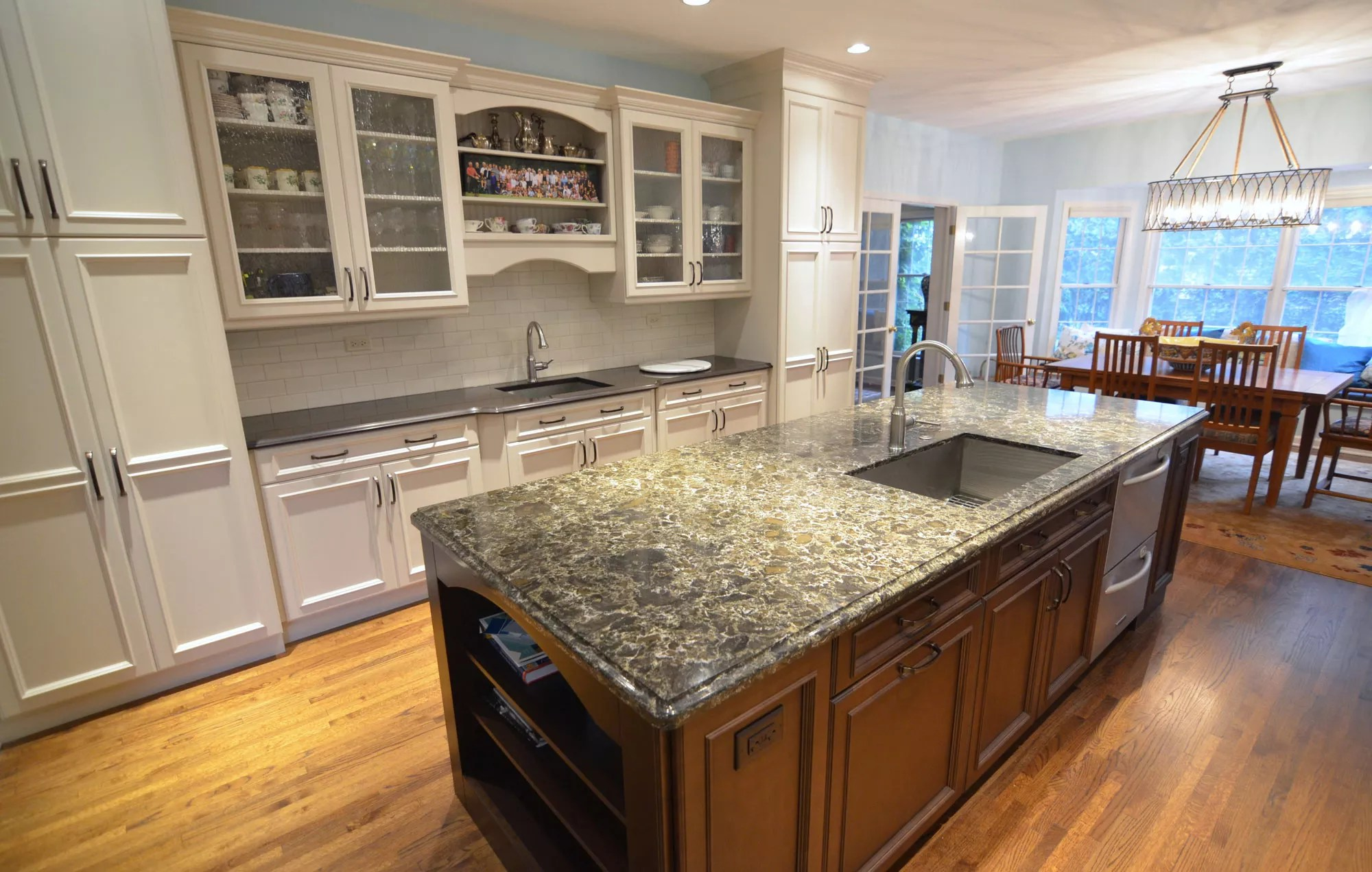 oversized kitchen island sherwin williams cabinet paint large transitional with master