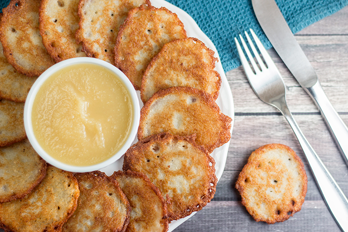 Potato Pancakes (Kartoffelpuffer) by the Kitchen Maus