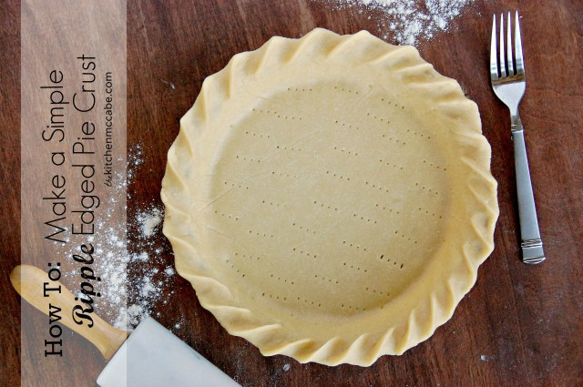 How to make a Simple Ripple Edged Pie Crust