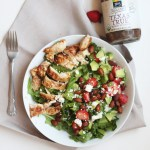 Barbecue Chicken and Strawberry Salad