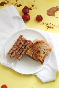 A grilled PB&J that's vegan, refined sugar free, and gluten free friendly! It's filled with tons of flavor, natural sweetness, and satisfying flavors.