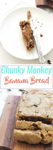 Vegan, fluffy chunky monkey banana bread that's easy to make, delicious, fluffy, and the perfect dessert!