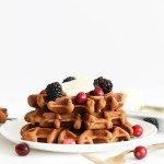 6 Ingredient Gingerbread Waffles