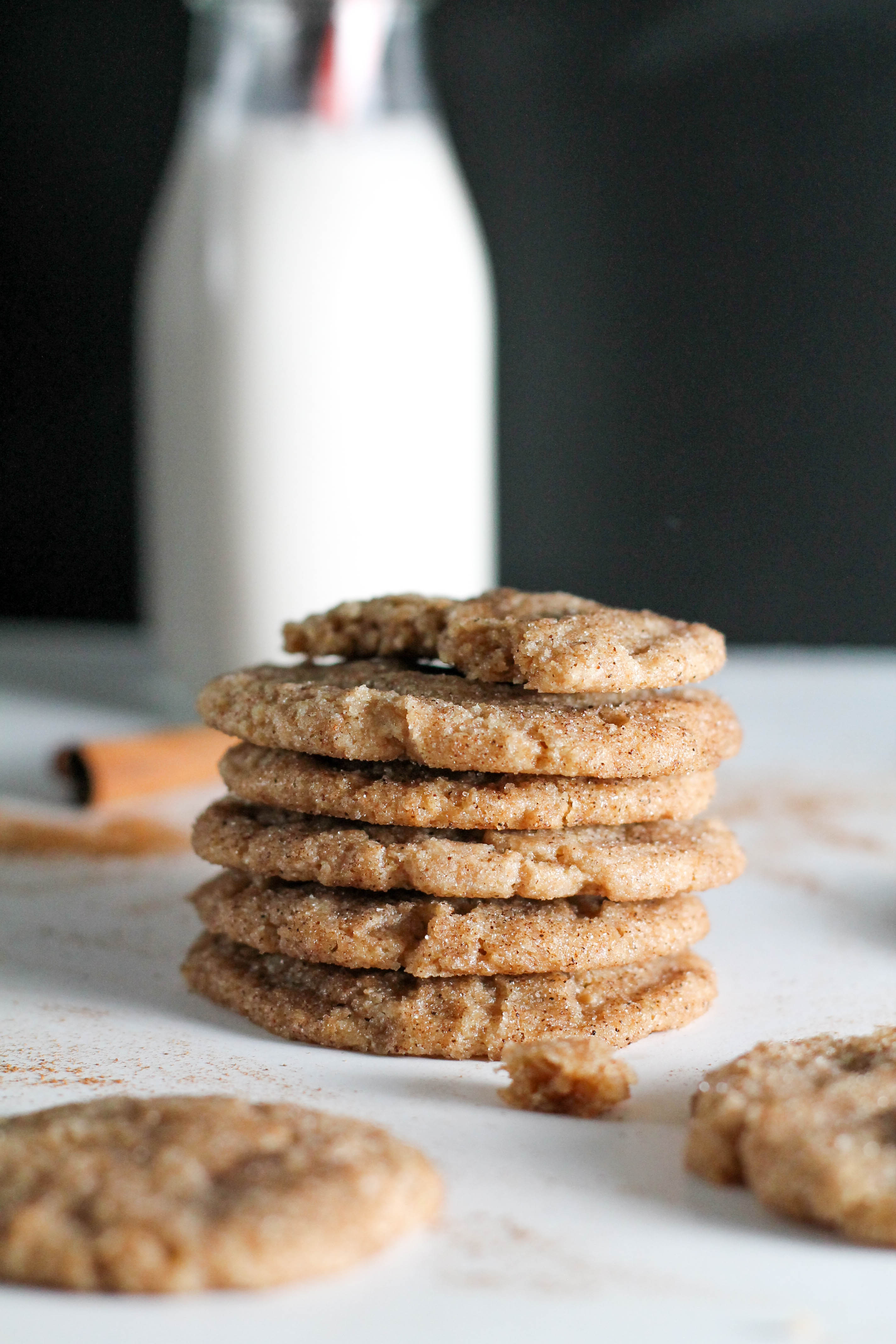 These vegan chai spiced snickerdoodle cookies are the perfect treat. They're filled with flavor, chai spices, and sweetness. Dunk them in some milk, make an ice cream sandwich out of them, or enjoy them on their own- the possibilities are endless.