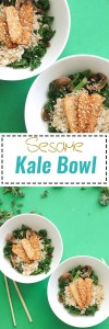 This sesame kale bowl is an easy, 20 minute dinner that's full of flavor. It's a twist on a classic buddha bowl, is filled with plant based protein, and extremely easy to make. Plus, it's vegan and gluten free!