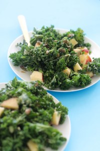 This apple pecan kale salad is the ultimate salad dish, as it's vegan, gluten free, and paleo! It's filled with plant based protein, hearty ingredients, and takes less than 20 minutes to make.