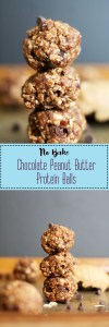 These no-bake chocolate peanut butter protein balls are vegan, gluten free, refined sugar free, protein packed, and incredibly healthy. They're made with natural ingredients, require less than 30 minutes to make, and are perfect for a quick snack.