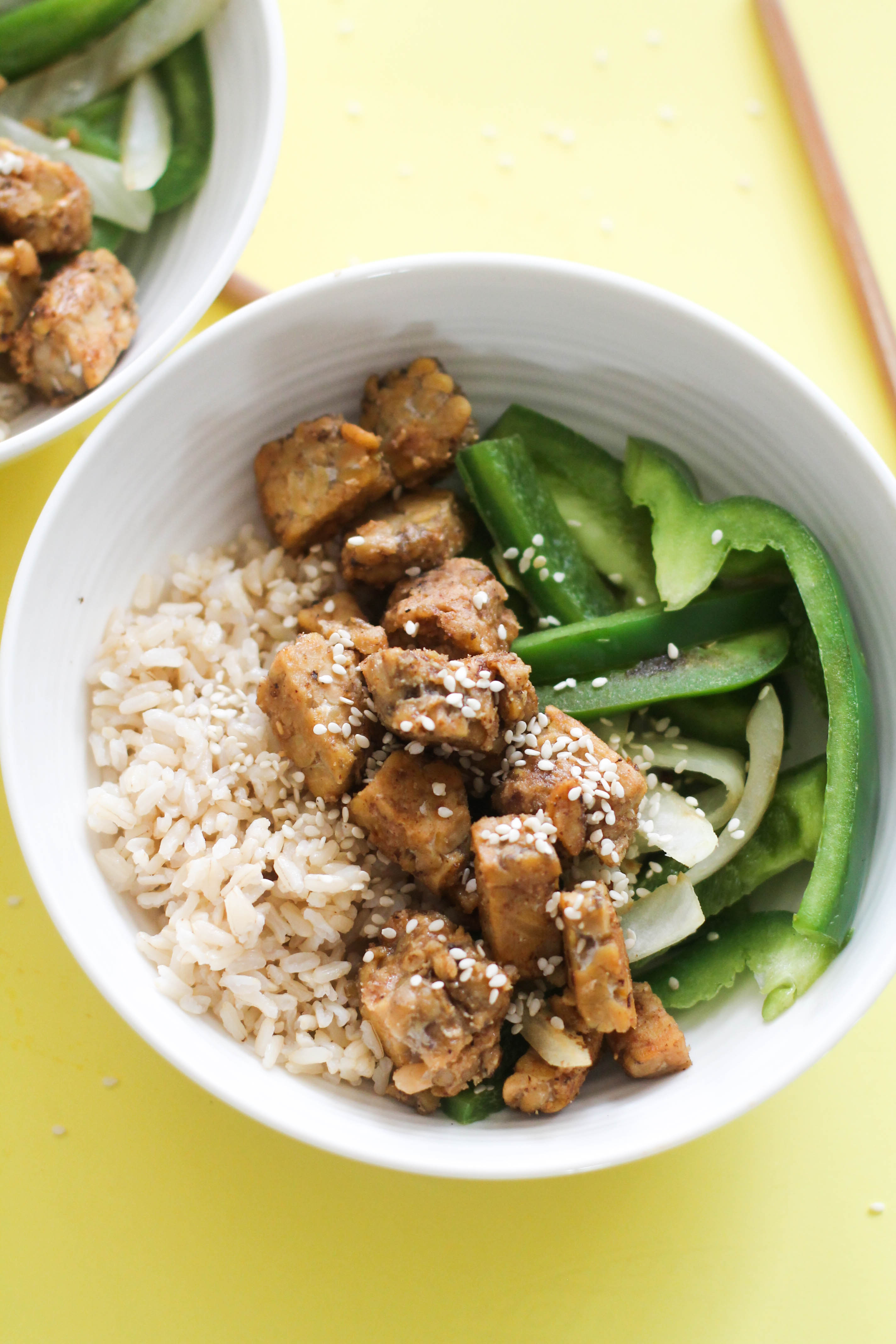 This peanut tempeh stir-fry is vegan, gluten free, ready in under 30 minutes, and is incredibly easy to make. It's filled with flavor, protein, healthy fats, and takes minimal effort.