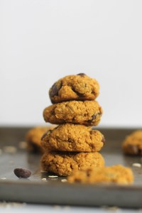 These pumpkin oatmeal cookies are vegan, gluten free, refined sugar free, and full of flavor. Made with minimal ingredients, they make for a great sweet treat.