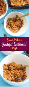 This sweet potato baked oatmeal is vegan, gluten free, refined sugar free, and full of flavor! It's naturally sweet and requires less than 10 ingredients to make.