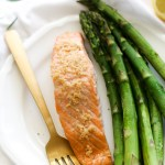 One Pan Lemon Garlic Salmon & Asparagus