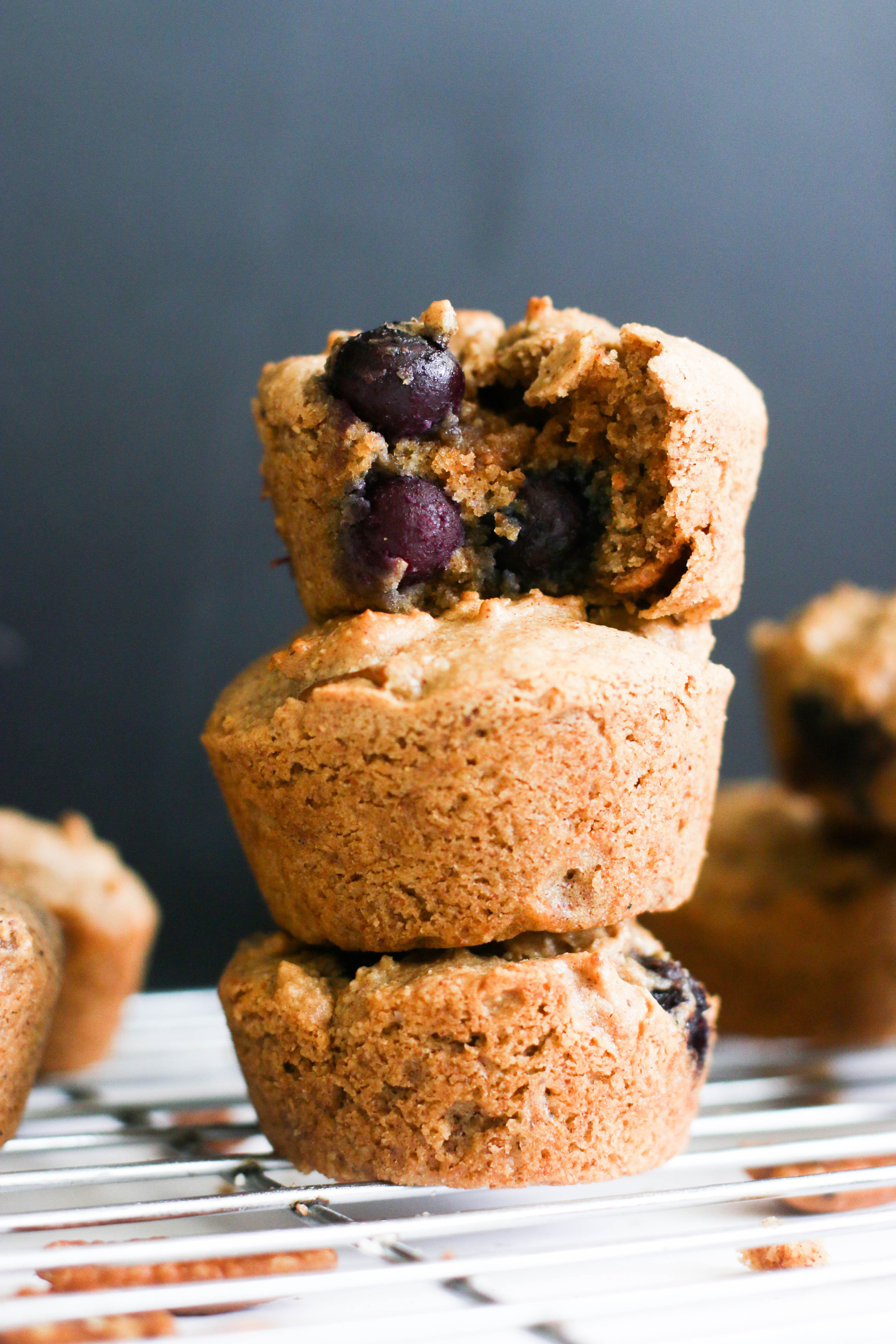 These paleo blueberry pecan muffins are full of healthy fats, are protein packed, require minimal ingredients, and are fill with flavor. They come together in under an hour and make for a great, healthy muffin.