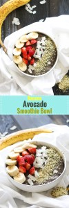 This banana avocado smoothie bowl is packed with nutrients, flavor, healthy fats, and natural sweetness! It's extremely filling and makes for the perfect breakfast.
