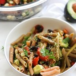Spicy Black Bean Pasta Salad (V&GF)