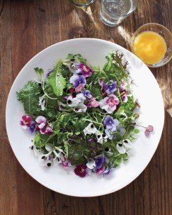 Green Salad edible flowers by Martha Stewart