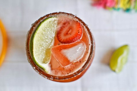 Strawberries margaritas