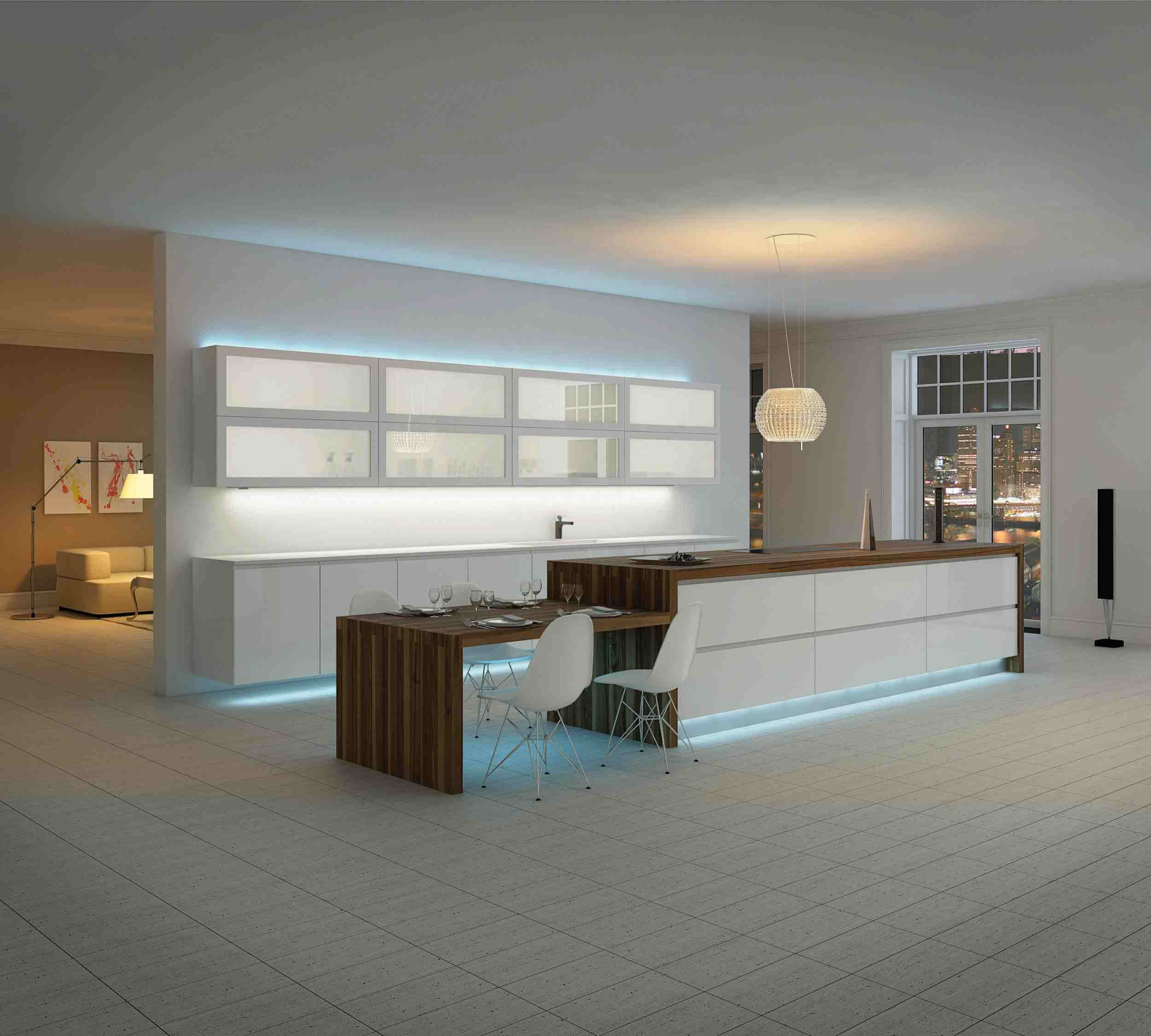 kitchen unit led lights clear canisters turn your island into a focal point the