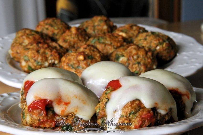 Protein Chicken Parm Florentine Meatballs2