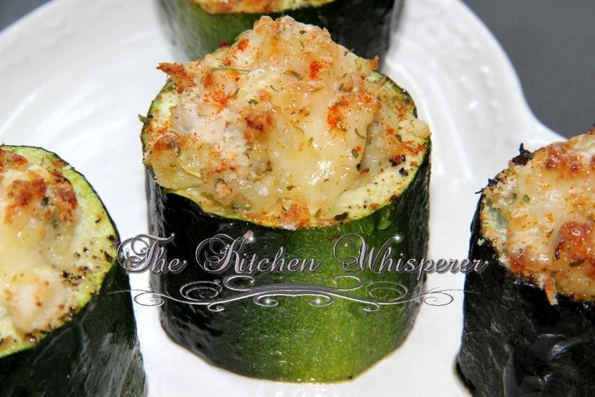 Crab Stuffed Zucchini Appetizers with Gruyere Panko Crust