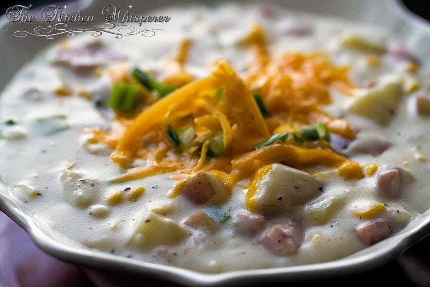 Potato corn chowder recipes with ham