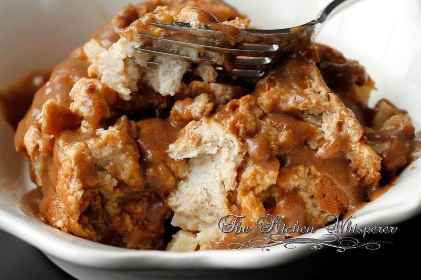 Caramel Apple Bread Pudding Butterscotch Sauce1