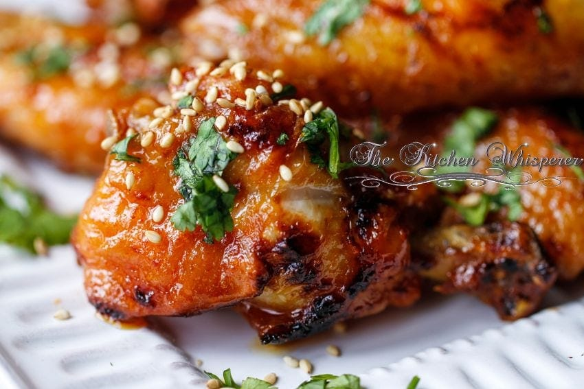 Sriracha Honey Buttered Crispy Baked Wings3