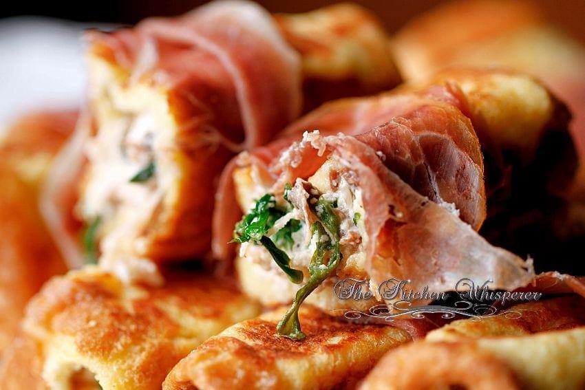 Savory Ricotta Mushroom Pancetta stuffed French Toast8