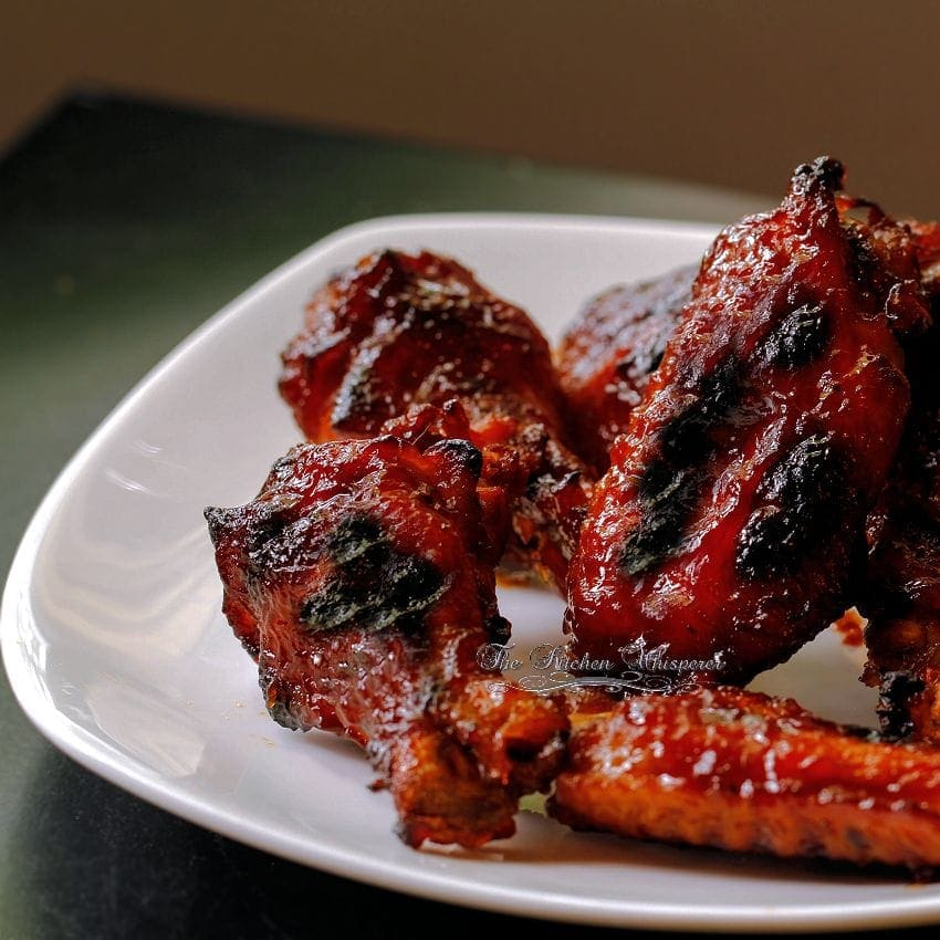 Pressure Cooker Wings with Bourbon Honey BBQ Sauce