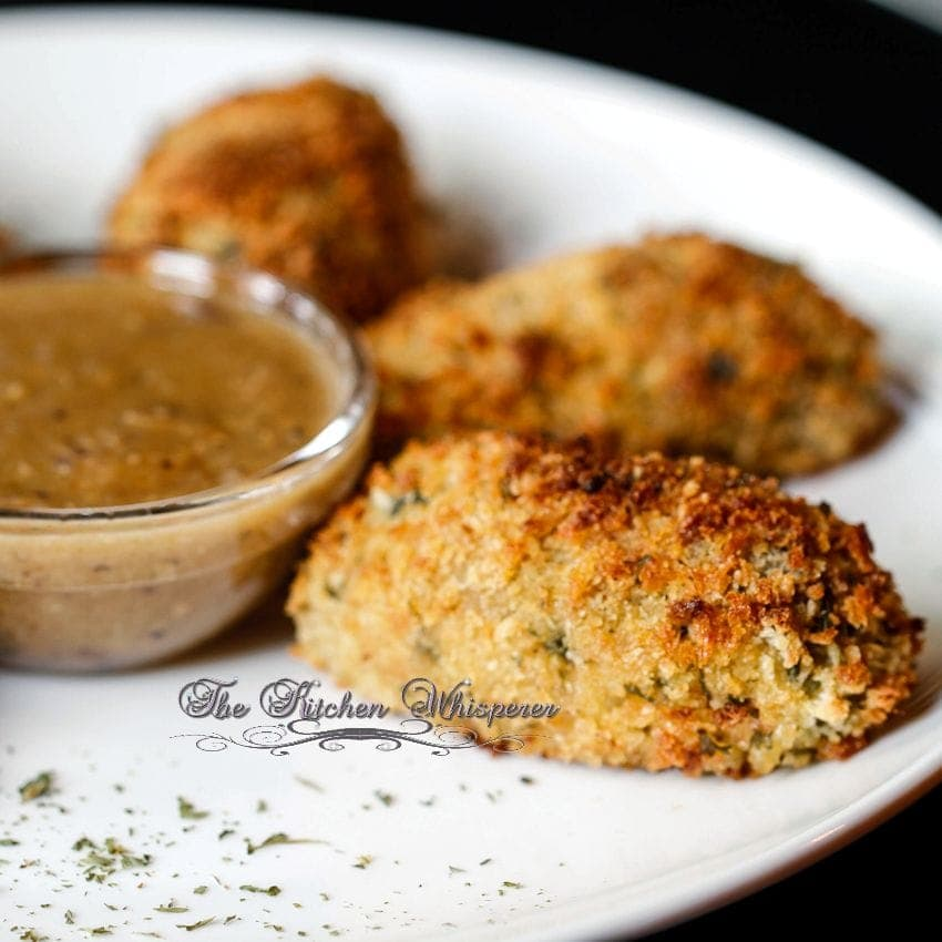 Crispy Baked Chicken Croquettes