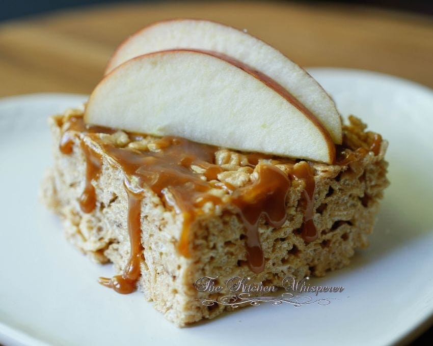 Caramel Apple Rice Crispy Bars