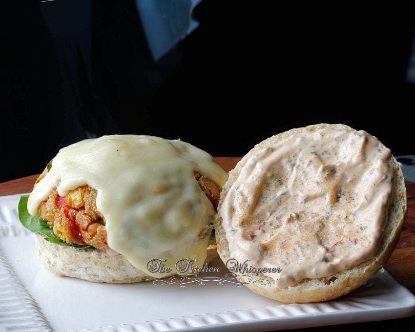 White Bean and Corn Veggie Burgers8