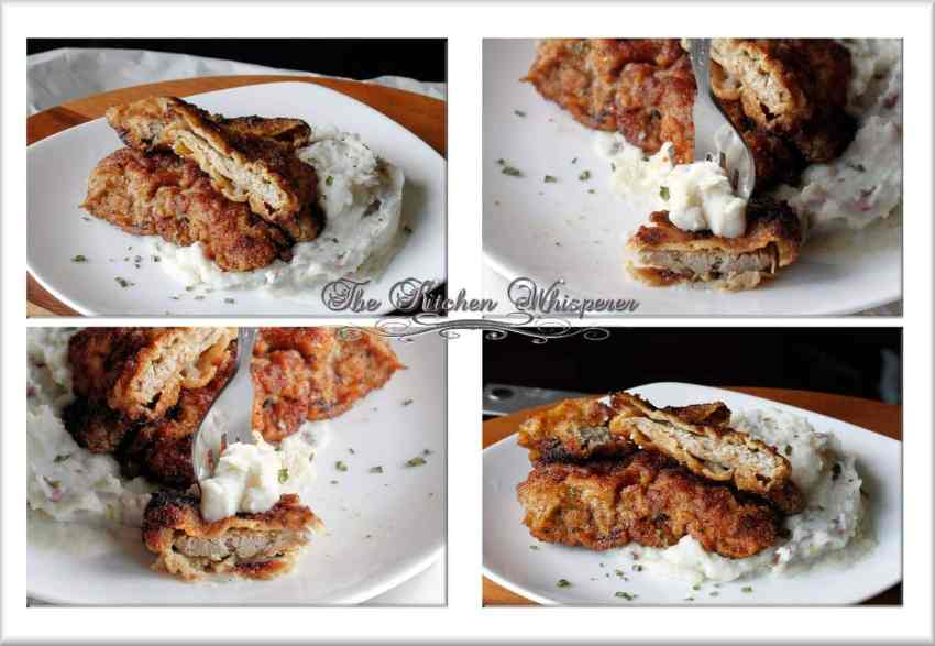 Breaded Pork Cutlet Collage