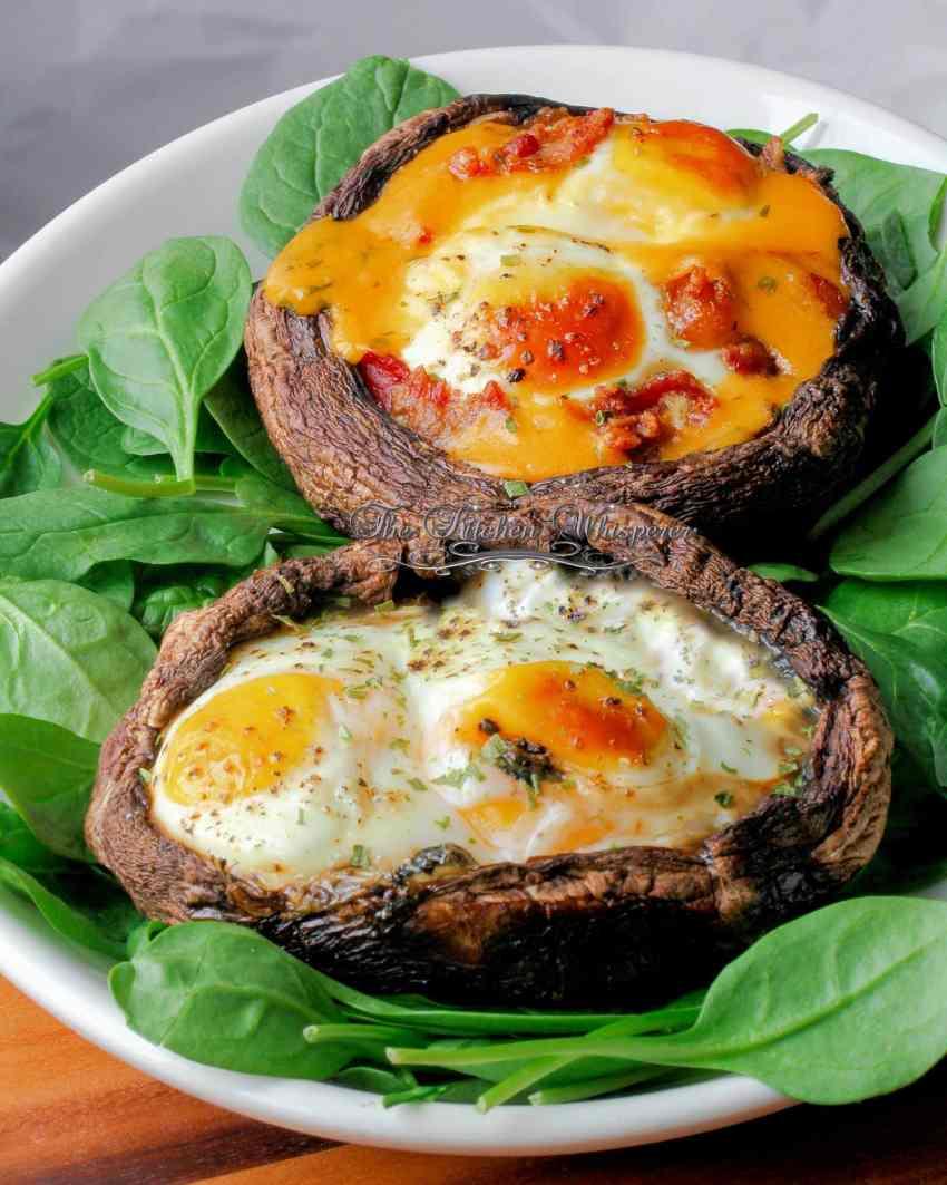 Egg Stuffed Skinny Portabello Caps4