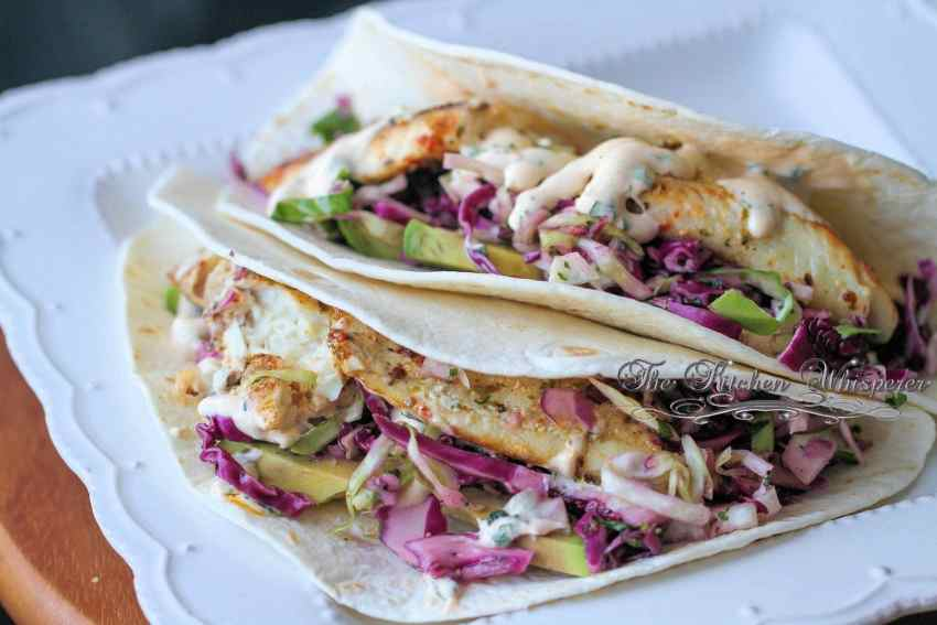 Grilled Fish Tacos with Baja Cream Sauce3