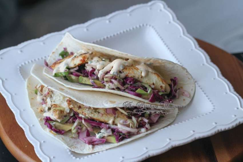Grilled Fish Tacos with Baja Cream Sauce5