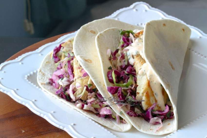 Grilled Fish Tacos with Baja Cream Sauce6
