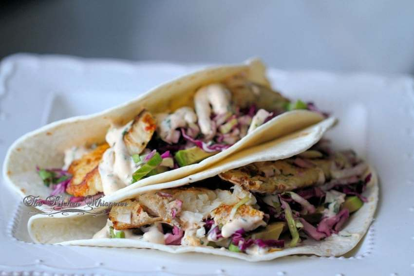 Grilled Fish Tacos with Baja Cream Sauce9
