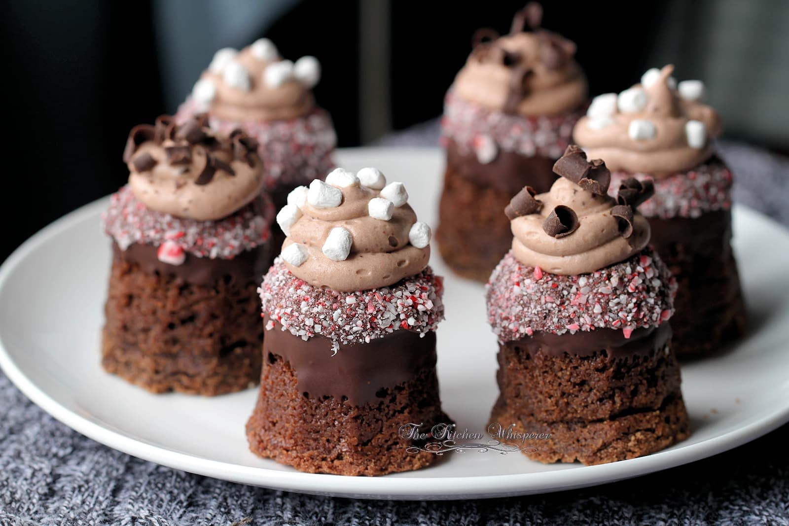 Hot Chocolate Cookie Cups with Triple Hot Chocolate Mousse