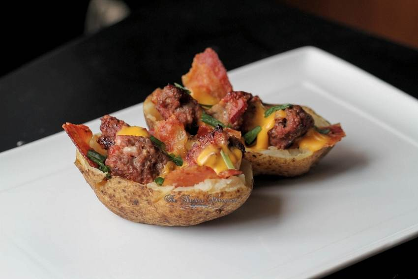 Bacon Cheeseburger Stuffed Potatoes10