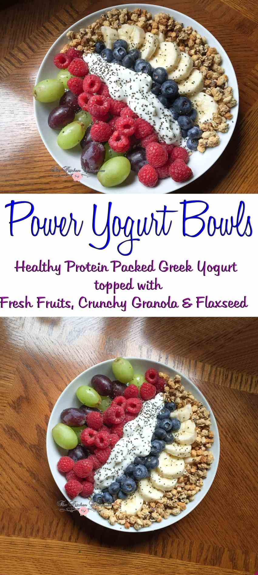 Berry Grape Power Yogurt Bowls Collage