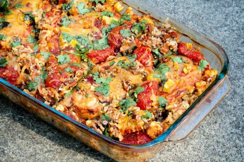 Mexican Chicken Salsa One Pan Casserole1