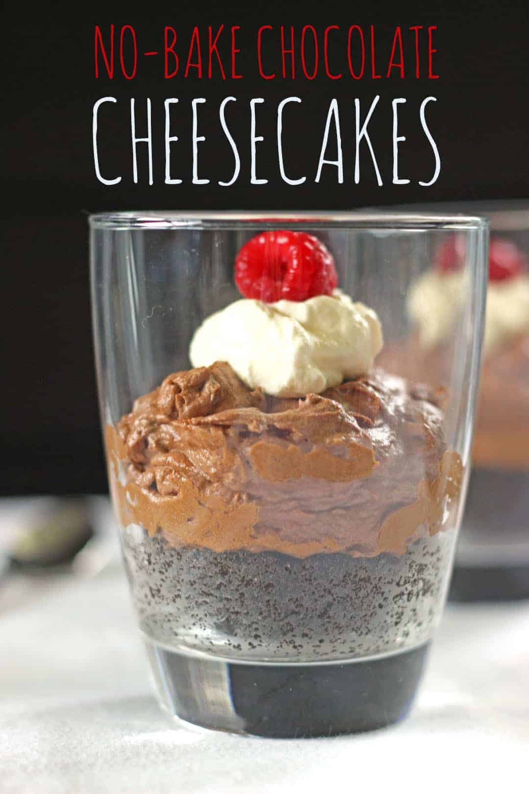 No Bake Chocolate Cheesecakes - The Kiwi Country Girl