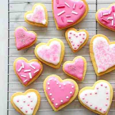 Valentine's Day Heart Sugar Cookies
