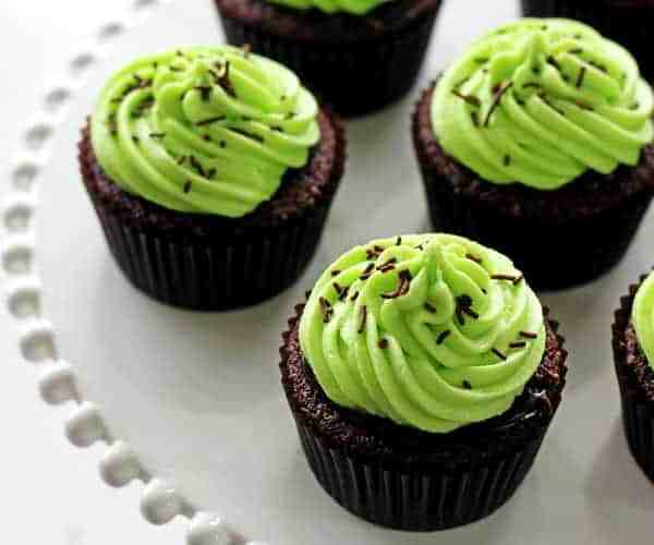 Chocolate Baileys Cupcakes with Mint Frosting