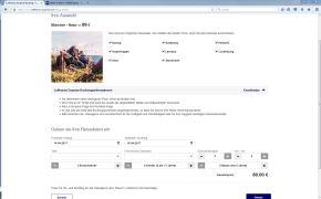 """Nach einem Klick auf """"Preis berechnen"""" erscheint der Flugpreis für die eingegebenen Daten."""