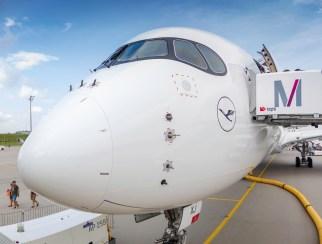 Die Stupsnase und die Waschbärenmaske: Charakteristika der A350-900.
