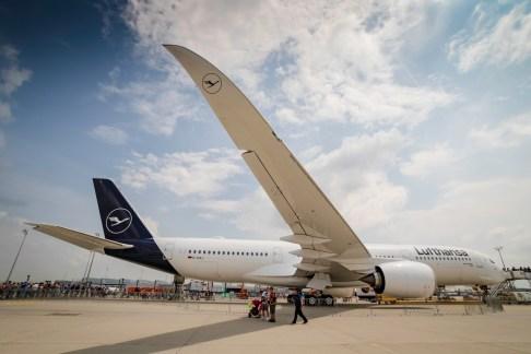 Aerodynamik par Excellence: Die Winglets der A350.
