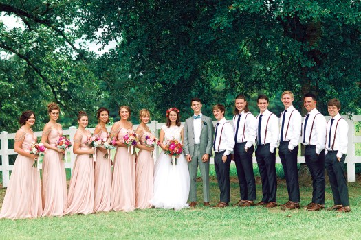 Duck Dynasty bridal party
